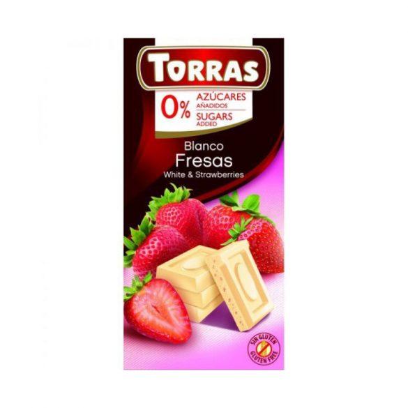 Torras Epres fehércsokoládé hozáadott cukor nélkül 75 g