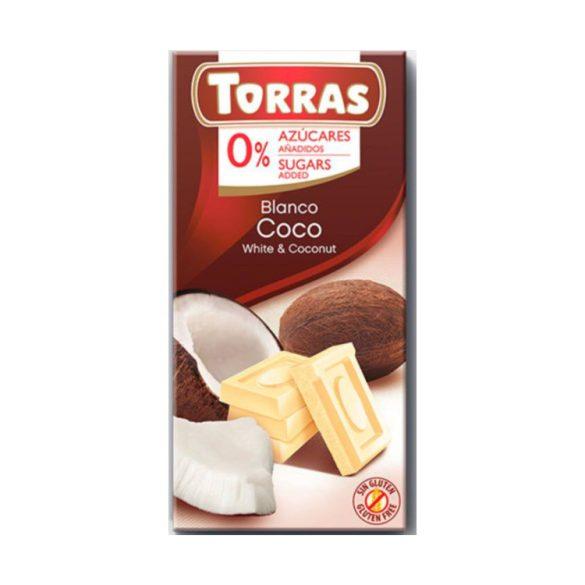 Torras Kókuszos ferhércsokoládé hozáadott cukor nélkül 75 g