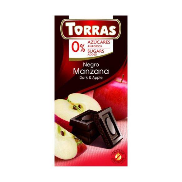 Torras Almás étcsokoládé hozzáadott cukor nélkül 75 g
