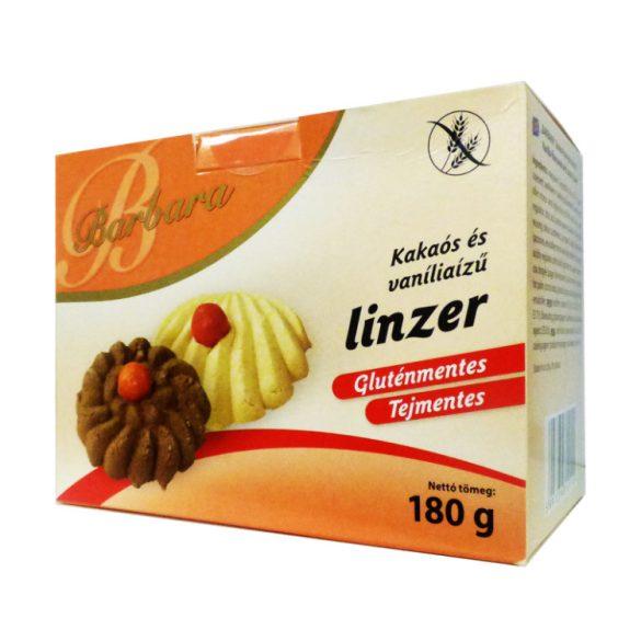 Barbara gluténmentes kakaós és vanília ízű linzer 180 g