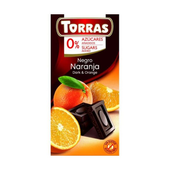 Torras Narancsos étcsokoládé hozáadott cukor nélkül 75 g
