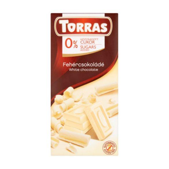 Torras Fehércsokoládé hozáadott cukor nélkül 75 g