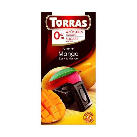 Torras gluténmentes mangós étcsokoládé édesítőszerrel 75 g