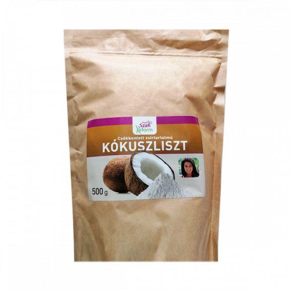 Szafi Reform zsírtalanított finom szemcsés kókuszliszt, 500 g
