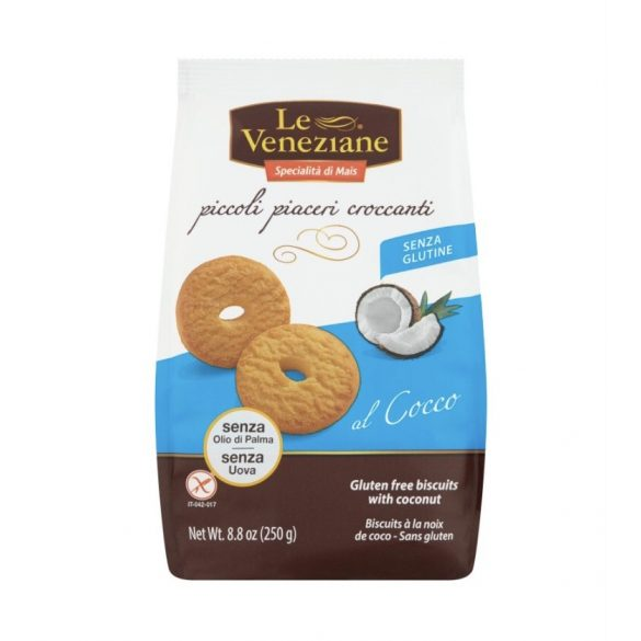 Le Veneziane kókuszos keksz, 250 g