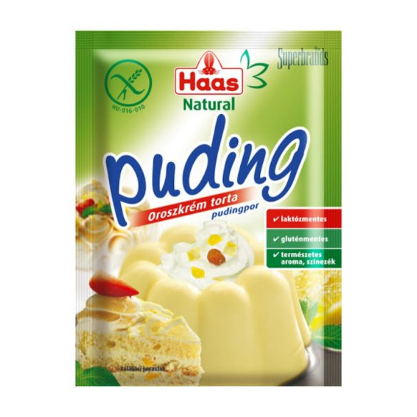 Haas Natural Tejszínízű pudingpor 40 g