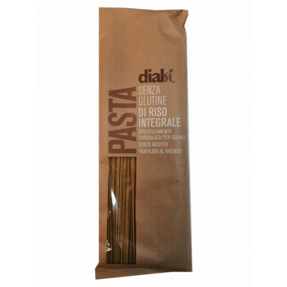 Dialsí Spaghetti tészta barna rizslisztből 400 g