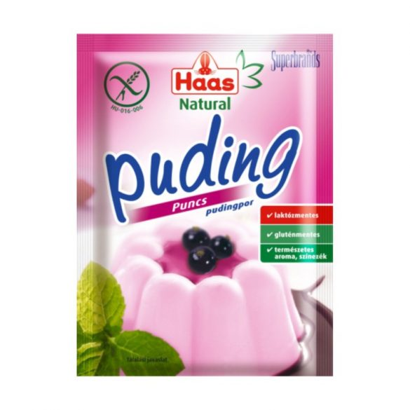 Haas Natural Puncs puding 40 g