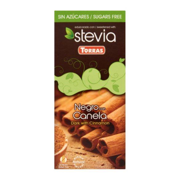 Torras Fahéjas étcsokoládé hozáadott cukor nélkül, édesítőszerrel 125 g